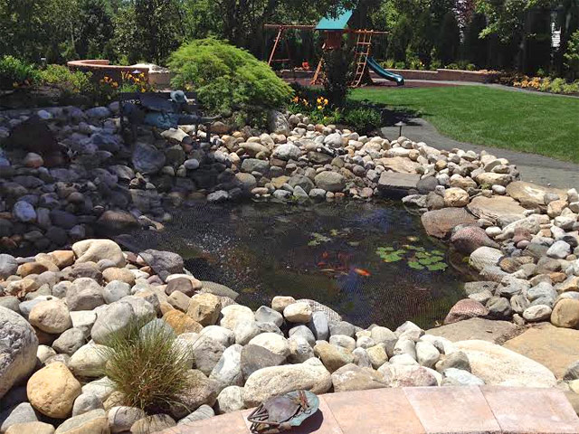 River Stone Koi Pond